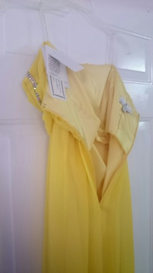 Jessica McClintock Yellow 34005-16 Sexy Bridesmaid/Mob Dress Size 6 (S)