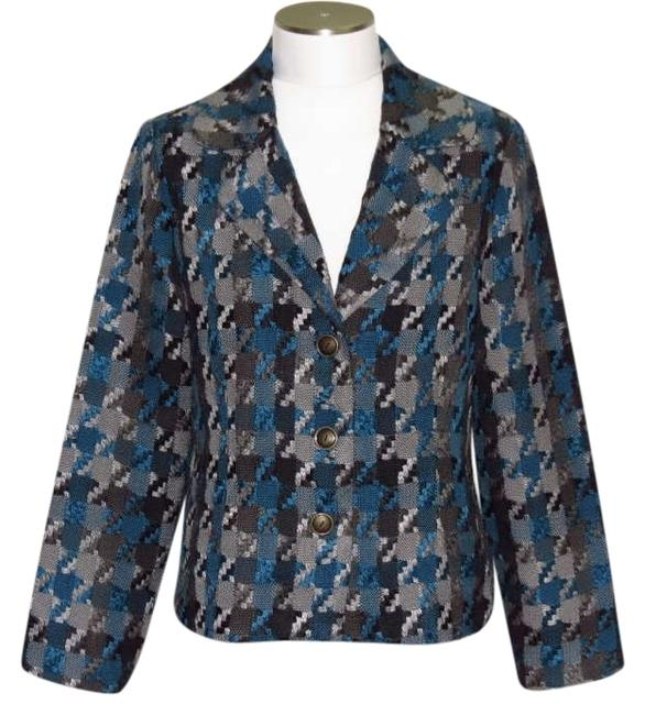 dressbarn Black/Blue/Gray Jacket