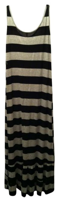 Item - Black and Grey High-low Casual Maxi Dress Size 8 (M)