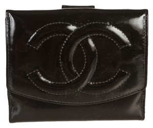 Chanel Chanel Black Vinyl CC Wallet