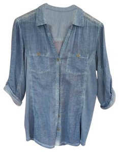 Elan Button Down Shirt Blue
