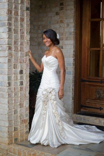 Pnina Tornai Ivory Silk 317686 Formal Wedding Dress Size 4 (S)