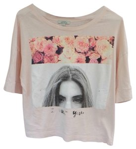Zara T Shirt Peach