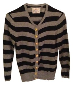 Twisted Heart Striped Gold Cardigan