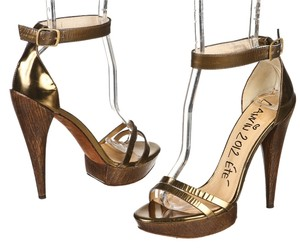 Lanvin Gold Pumps