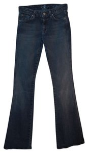 7 For All Mankind Sparkle Casual Embroidered Boot Cut Jeans-Medium Wash