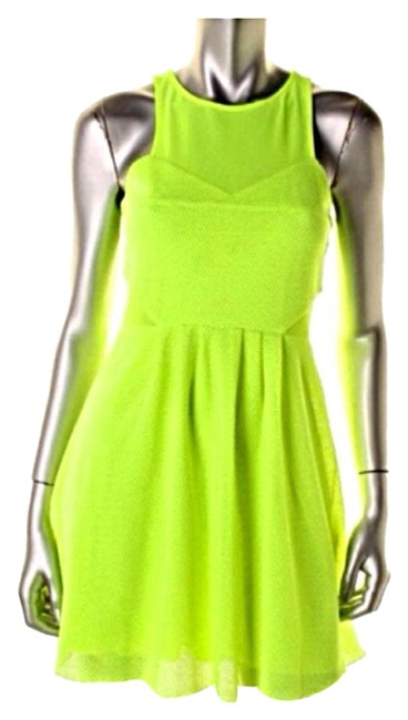 Preload https://img-static.tradesy.com/item/3473524/dolce-vita-yellow-mesh-cut-out-clubwear-above-knee-short-casual-dress-size-6-s-0-0-650-650.jpg