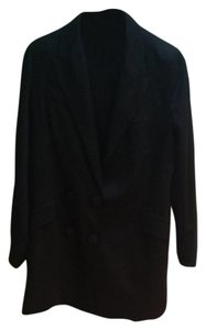 Mango Long Double Breasted Black Blazer
