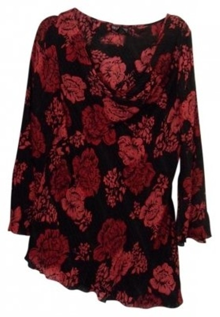 Preload https://img-static.tradesy.com/item/34741/style-and-co-black-red-redblack-drape-neck-print-blouse-size-18-xl-plus-0x-0-0-650-650.jpg