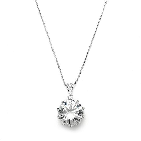 Preload https://img-static.tradesy.com/item/3474439/mariell-silver-prom-or-bridesmaids-bling-cz-pendant-4083n-necklace-0-0-540-540.jpg