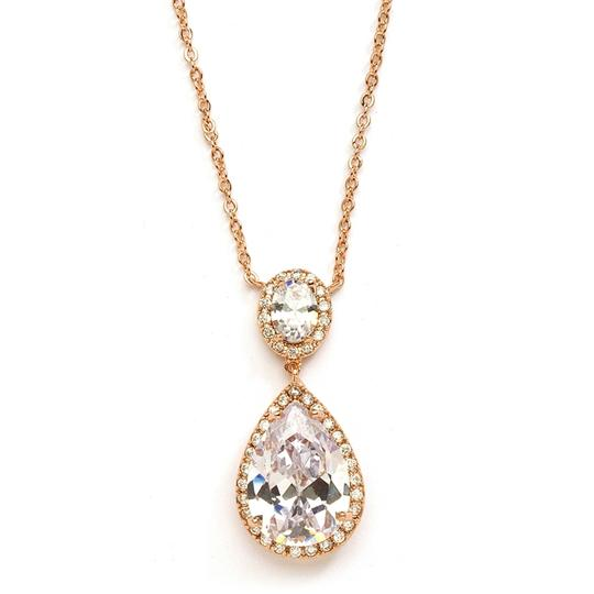 Preload https://item2.tradesy.com/images/mariell-rose-gold-couture-cubic-zirconia-pear-shaped-2074n-rg-necklace-3474526-0-0.jpg?width=440&height=440