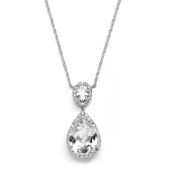 Preload https://img-static.tradesy.com/item/3474556/mariell-silver-couture-cubic-zirconia-pear-shaped-2074n-s-necklace-0-0-540-540.jpg