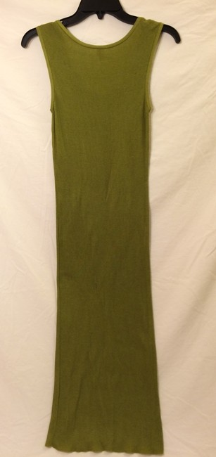 Olive Green Maxi Dress by Hermès Ribbed Silk Cotton Scoopneck