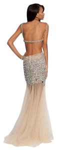 Jovani Sheer Prom Beads Sequins Dress