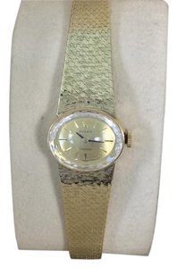 Rolex Lady's Vintage Rolex 18K Yellow Gold Oval with Faceted Crystal & Attached Bracelet