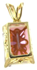 14KT YELLOW GOLD PENDANT CHARM MULTICOLOR TOPAZ 2.3DWT BIRTHSTONE JEWELRY JEWEL