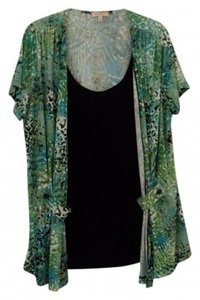 Choices Top Turquoise/Green/Black