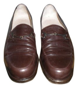 Emporio Armani Vintage Brown Leather Flats