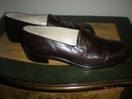 Emporio Armani Vintage Loafers Size 8 Brown Leather Flats