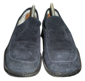 Kenneth Cole Size 8 Navy Blue Suede Leather Loafer Flats