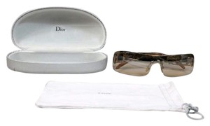 Dior Christian Dior Fire Sun Glasses Gold Brown Lens With Case