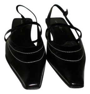 Max Studio Bliss Heels 71/2 Black Patent Leather Mules