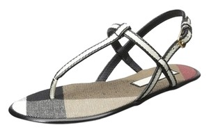 Burberry Black/white Sandals