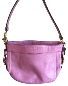 Coach Leather Patent Gold Hardware Shiny Shoulder Bag