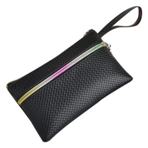Other Coin Clutch Rainbow Wristlet in Black
