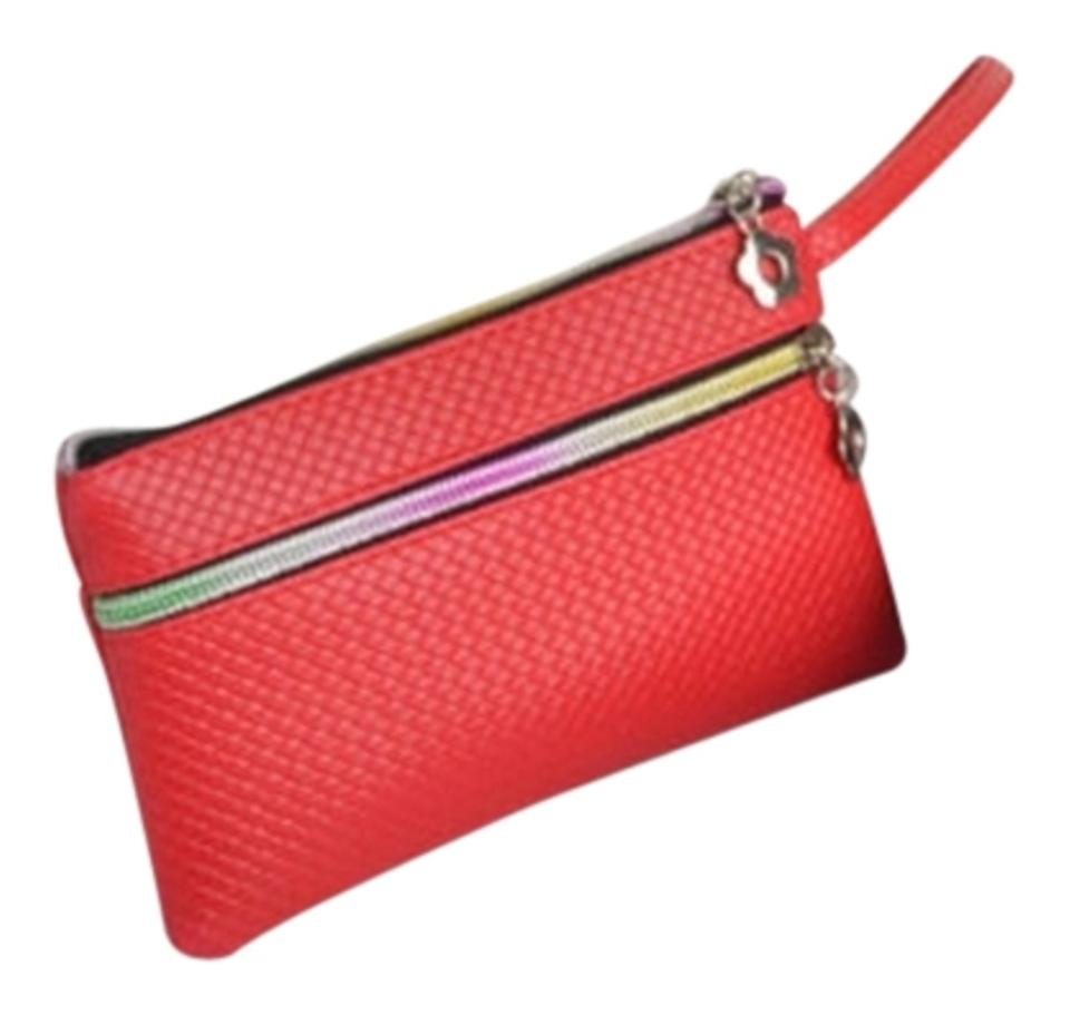 Bogo Wallet Clutch Coin Purse Free Shipping Red Faux Leather ... 46ab011a1b3cc
