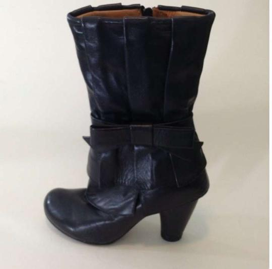 Chie Mihara Bows Leather Girly Stylish Rare Black Boots