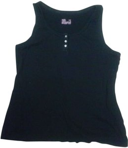 Gilligan & O'Malley Top Black with white buttons