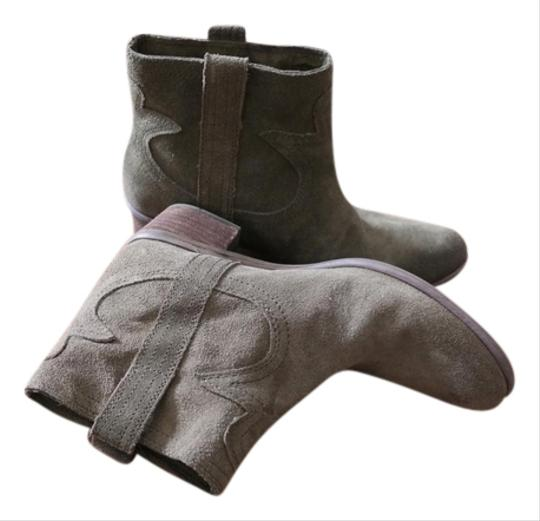 Lucky Brand Suede Leather Suede Fall Winter Womens Suede 7.5 Brown Dark Olive Boots