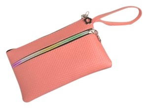 Other Wallet Coin Wristlet in Salmon