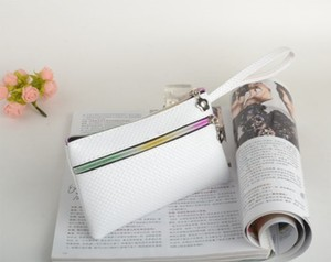 White Rainbow Zipper Wristlet Free Shipping