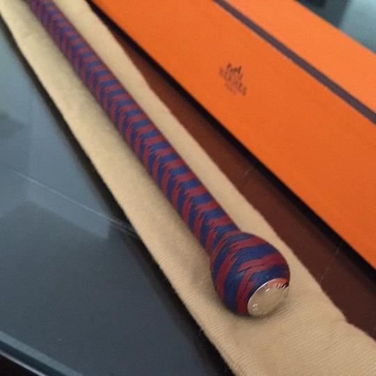 Hermès Hermes Leather Woven Riding Crop