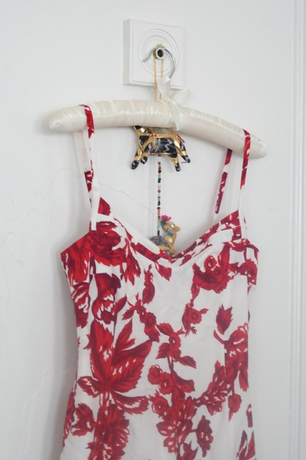 Charles Chang Lima short dress Red Linen Sun Sexy Print on Tradesy