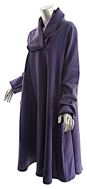 Item - Purple W London Plum Poly A-line Tunic W/Trim - Fabulous - O/S - Mint Mid-length Casual Maxi Dress Size OS (one size)