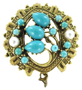 Preload https://item5.tradesy.com/images/yellow-gold-14kt-pin-brooch-76dwt-turquoise-pearl-pendant-victorian-347704-0-0.jpg?width=440&height=440
