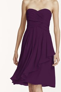 David's Bridal Plum F14847 Plum Dress