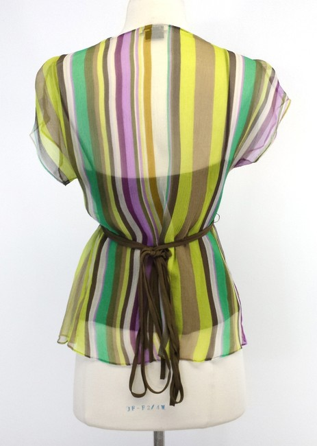 Etro Multi-color Striped Silk Top