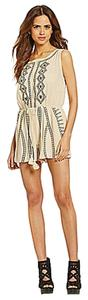Gianni Bini Romper Embroidered Dress