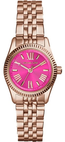 Michael Kors Michael Kors Women's Petite Lexington Rose Gold-Tone Stainless Steel Bracelet Watch 26mm MK3285