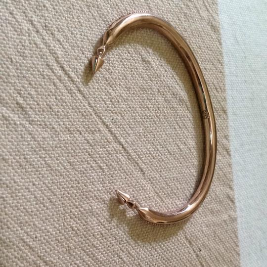 House of Harlow 1960 Rose Gold Bangle With Pave Accent