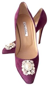 Oscar de la Renta Purple Pumps
