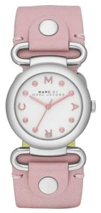Marc by Marc Jacobs Marc by Marc Jacobs Women's Molly Hazy Rose Leather Strap Watch 30mm MBM1305