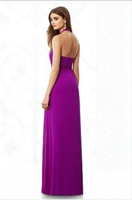 After Six Halter Chiffon Dress