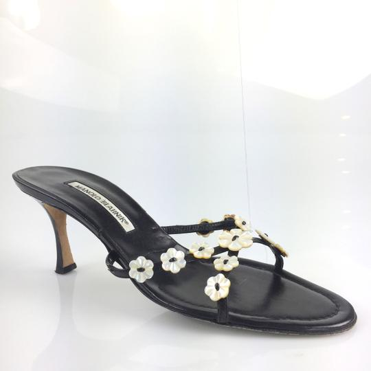 Preload https://item5.tradesy.com/images/manolo-blahnik-black-mother-of-pearl-flower-slides-leather-sandals-size-eu-39-approx-us-9-regular-m--3478804-0-1.jpg?width=440&height=440
