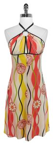 Trina Turk short dress Multi Color Floral Print Silk Halter on Tradesy