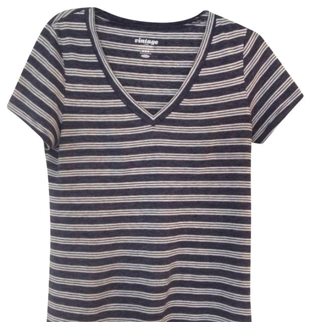 Old Navy T Shirt Blue And White Stripe